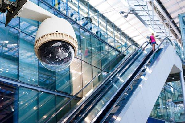 Camera monitoring building